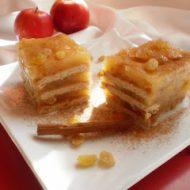 Prajitura cu mere si biscuiti (de post)