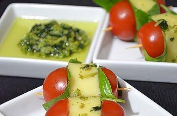 Kebab cu Ementaler si Sos Pesto