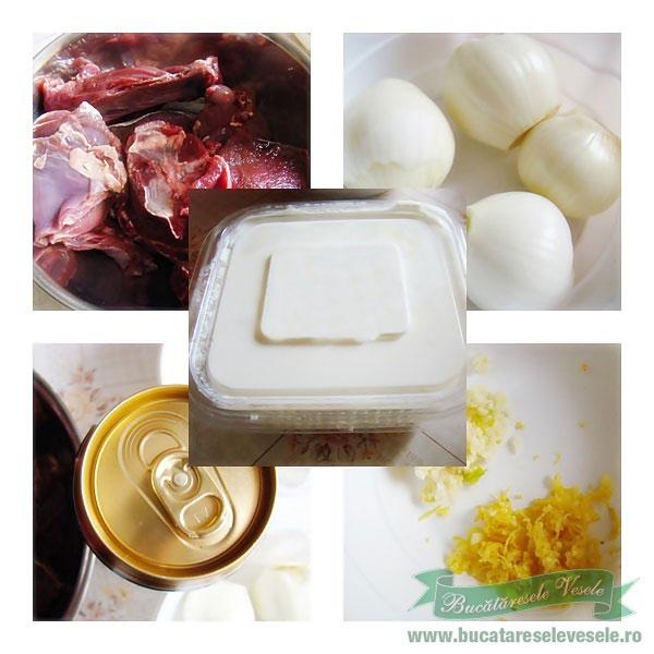 Ingrediente Friptura de Caprioara in Bere