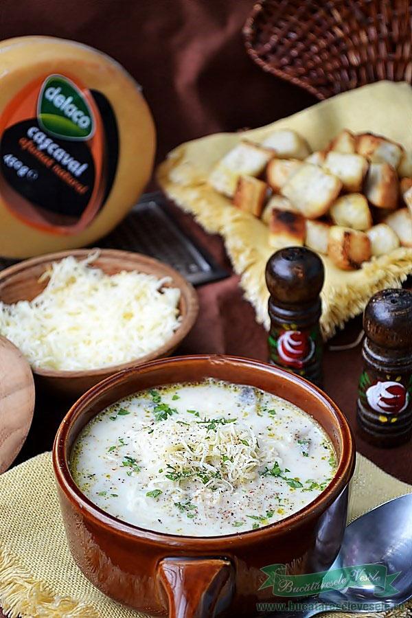 Supa de Ciuperci cu Cascaval