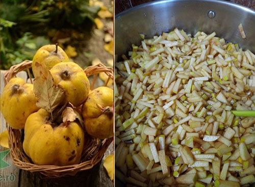dulceata de gutui-preparare