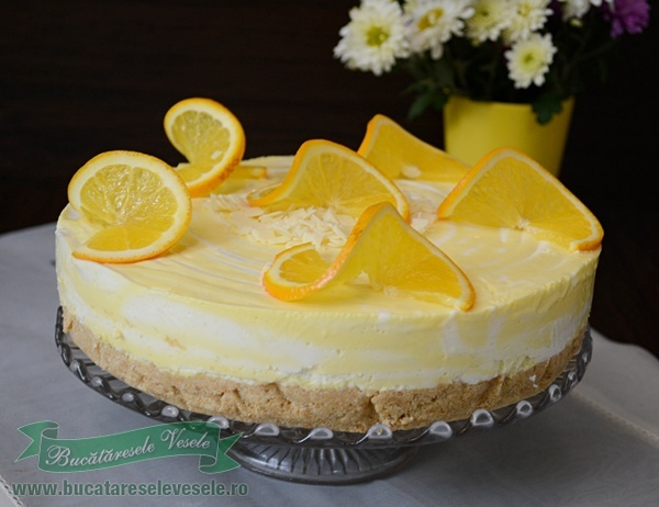 Cheesecake cu vanilie si portocale-4
