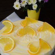 Cheesecake cu vanilie si portocale