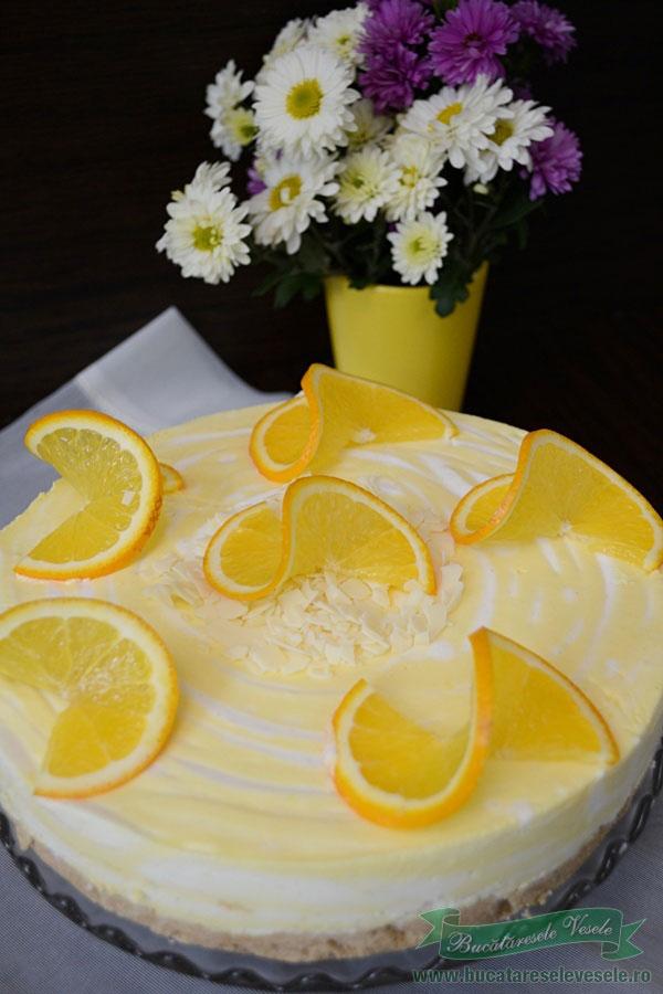 Cheesecake cu vanilie si portocale-5