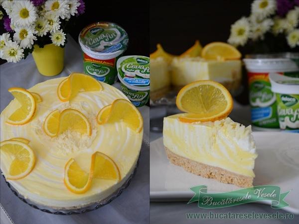 Cheesecake cu vanilie si portocale-7