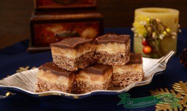 Prajitura cu nuci si crema caramel- Snickers