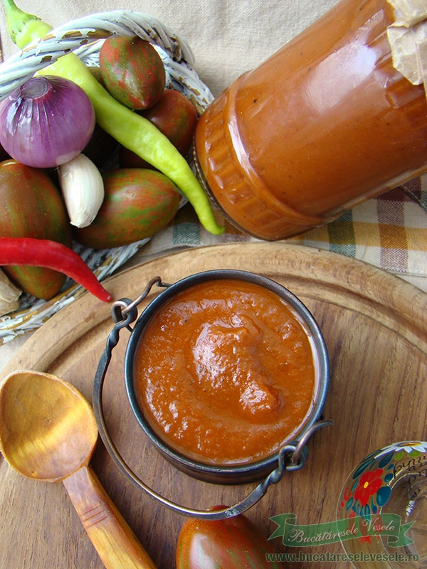 Ketchup din rosii coapte la cuptor