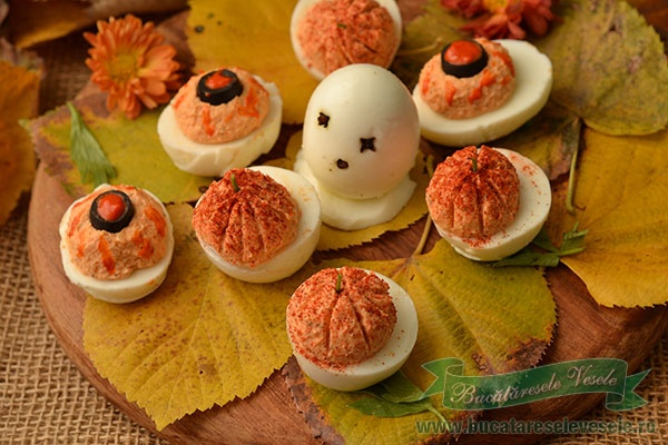 Oua umplute- Aperitiv Halloween