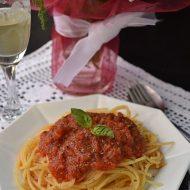 Spaghete cu Sos Bolognese de post