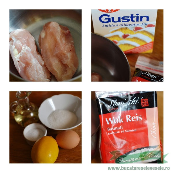 ingrediente Pui in crusta de orez si lamaie