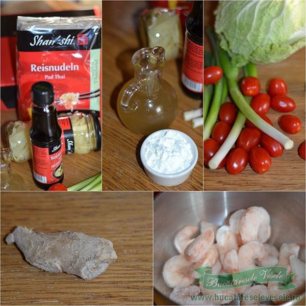ingrediente Fidea de orez cu pack-choi