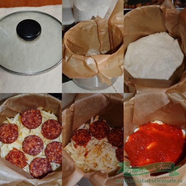 preparare tort pizza la oala