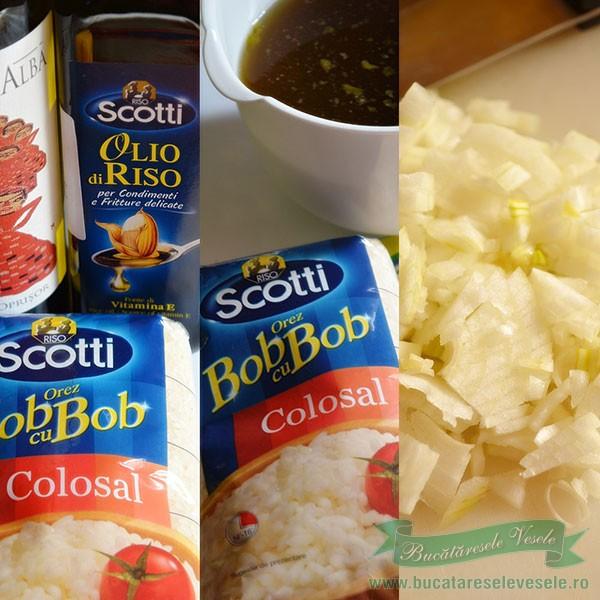 Ingrediente Risotto cu Ciuperci