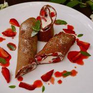 Clatite cu Cacao si Crema de Branza-fara gluten