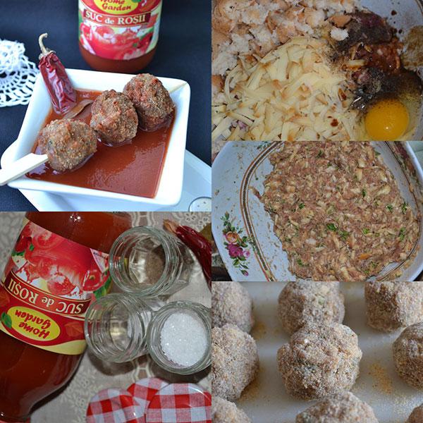 preparare Chiftelute cu cascaval si sos picant de rosii
