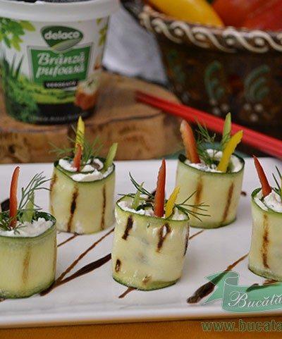 Rulouri din Zucchini si Branza Pufoasa cu Verdeata