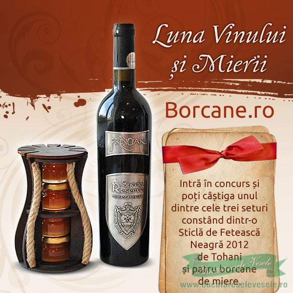 Concurs- Borcane.ro te Premiaza cu Miere si Vin!