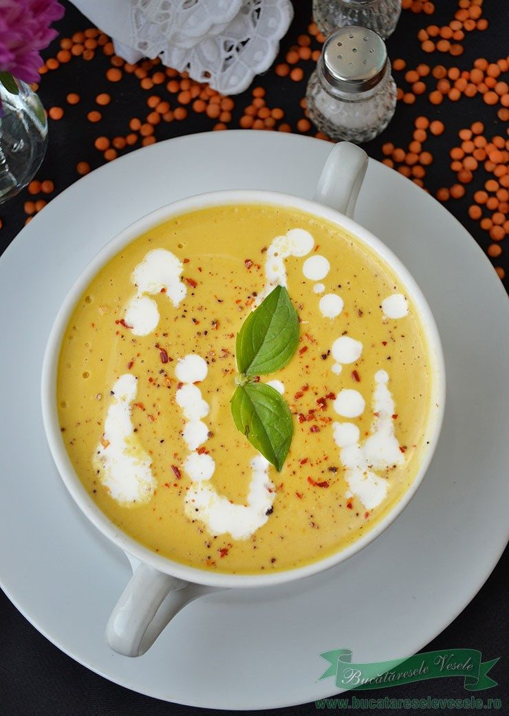 Supa Crema de Linte Rosie