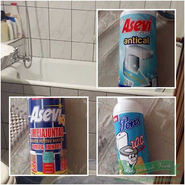 produse de curatat baia