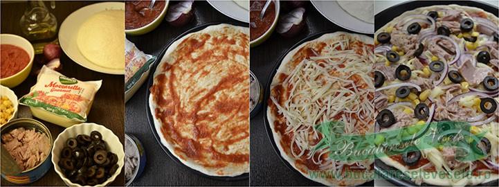 pizza-cu-ton-si-mozzarella-preparare