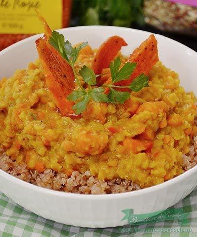 Curry de linte si cartof dulce