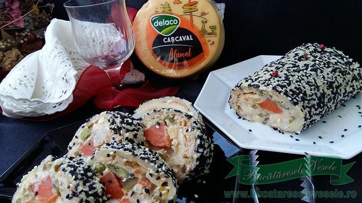 Rulada de Cascaval cu Salata de Boeuf