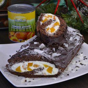Tort Buturuga cu Mascarpone si Piersici