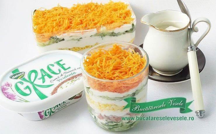 Salata cu Sos de Branza