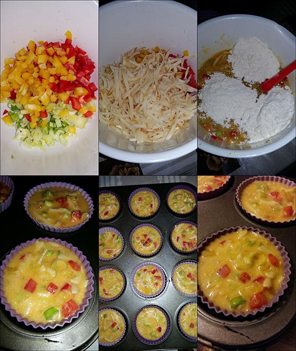 Mini omlete cu cascaval