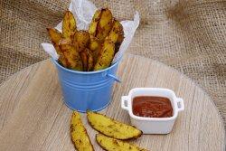 cartofi wedges la cuptor