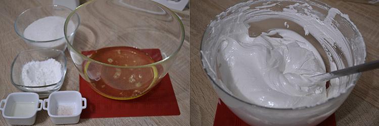 mini pavlova cu crema de branza