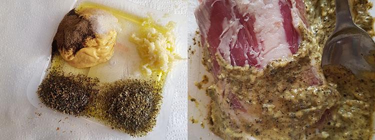 Cotlet condimentat la cuptor