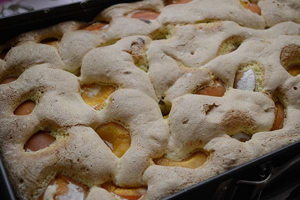 prajitura cu fructe, coapta