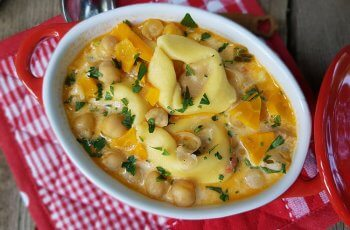 Supa de naut cu tortellini
