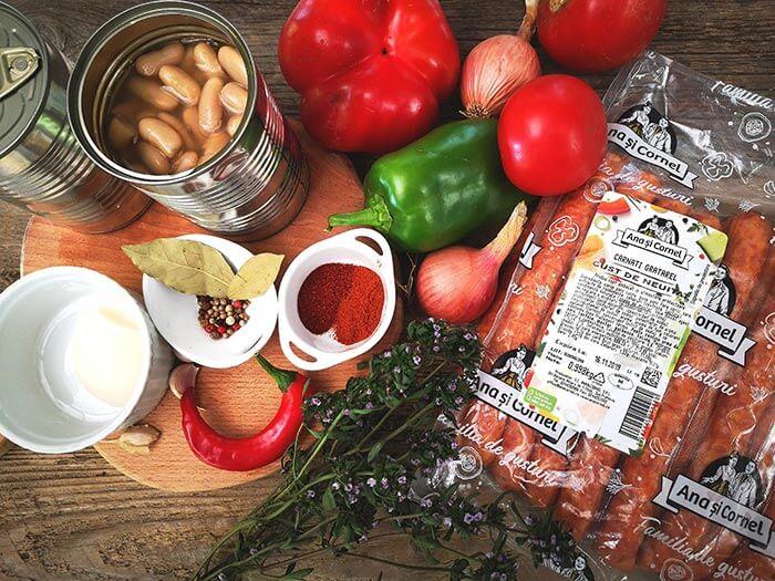 fasole picanta cu carnati gratarel ingrediente