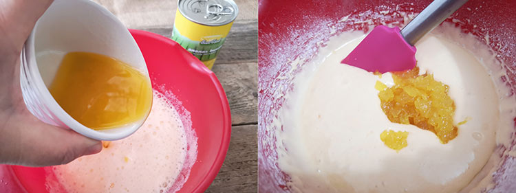 preparare madlene cu ananas