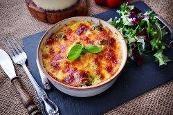 broccoli cu pastrav in sos de cascaval