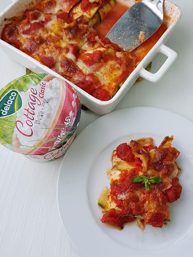 Zucchini cu branza la cuptor