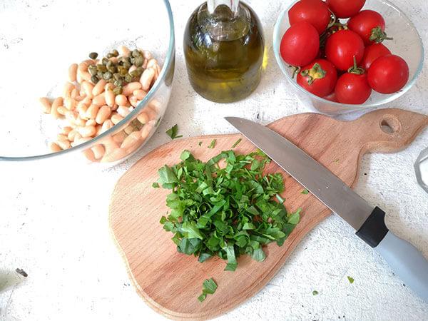 salata fasole preparare