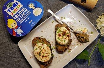 Gustari rapide cu ciuperci si branza