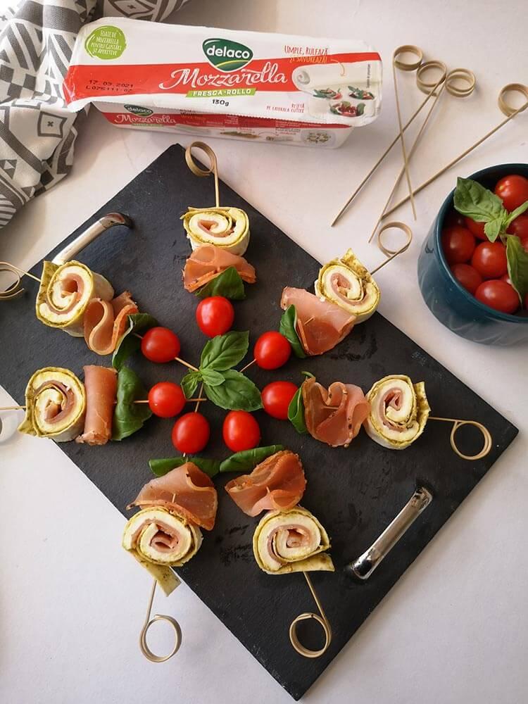 aperitive cu mozzarella fresca rollo