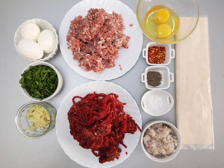 ingrediente rulada de carne