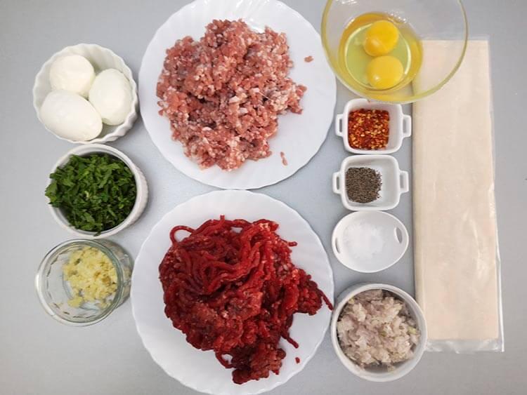 ingrediente rulada de carne