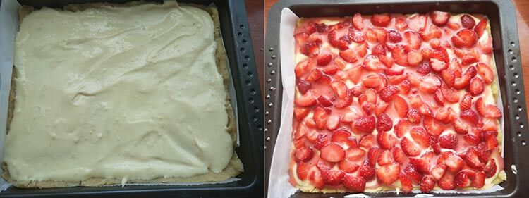 preparare prajitura cu capsune