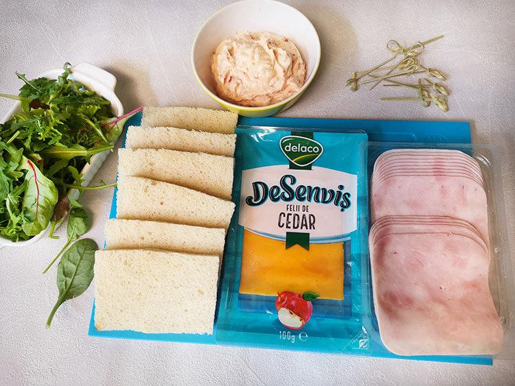ingrediente mini sandvis