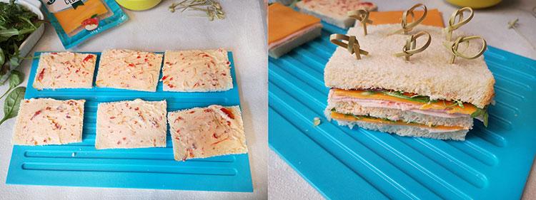 preparare mini sandvisuri