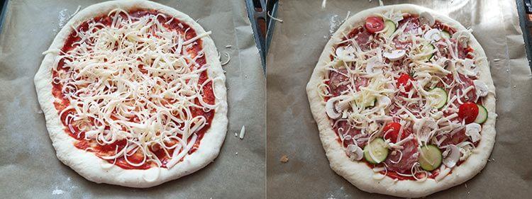 preparare pizza